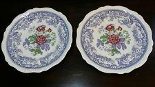 """2 Copeland Spode Mayflower 10 1/2"""" Dinner Plates"""