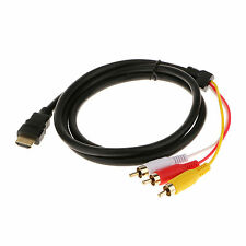 1080P HDMI to 3 RCA Cable HDMI to AV Male Adapter Audio Video Cable for HDTV