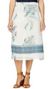 NEW WITH TAGS LADIES W.LANE FLORAL BORDER LINED SKIRT SIZE 18