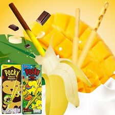 Glico Pocky Japanese Biscuit Stick Coated Tropical Mango & Choco Banana 25g X 2