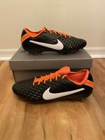 Nike Tiempo Legend 8 Elite IV FG DNA Pack Black/Orange Men CI7587-018 sz 11.5