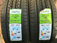 2 X NEW 235 60 16 RAPID ECOSAVER TYRES 235/60 R16 100H DOT 14/17 FAST FREE P&P