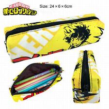 Anime My Hero Academia Midoriya Izuku Pencil Case Canvas Makeup Cosmetic Bags