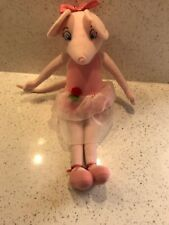 Rare Large Angelina Ballerina Ballet Pink Mouse Plush Soft Toy Doll 17 Inches.