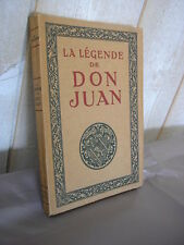 A. T'Serstevens : La légende de Don Juan PIAZZA.1924