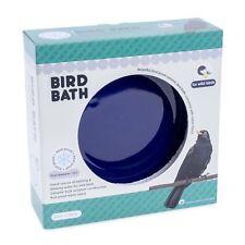 NEW Ceramic Garden Bird Bath UK with Frame Blue Design Frost Proof 30cmx30cm