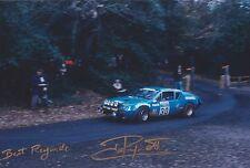 Jean Ragnotti Hand Signed Photo 12x8 Alpine-Renault Rally.