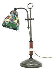 Lampada ottone invecchiato da tavolo,scrivania,lampade vetro stile tiffany slp11