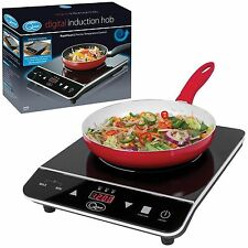 Single Digital Induction Electric Hob Hot Plate Kitchen Table Top Cooker 2000W