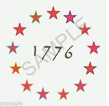 Stencil Betsy Ross 1776 Flag Stars 4th of July Americana 13 Stars Patriotic
