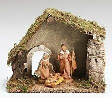 "Fontanini 5 Inch Scale ""HOLY FAMILY WITH STABLE ~ STARTER SET"" ~ Great Gift Idea"