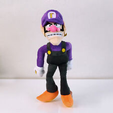 "Super Mario Brothers Waluigi Soft Plush Toy Figure Stuffed Doll 11"" New"