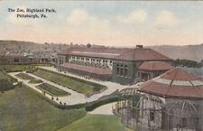 PITTSBURGH, Pennsylvania, PU-1914; The Zoo, Highland Park