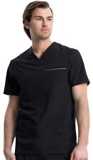 Cherokee Men's Fit Reflective Piping Front Patch Pockets V-Neck Scrub Top. Ck661