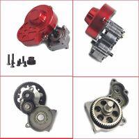 Metall SCX10 Gearbox Komplett Getriebe mit Zahnrad Für 1/10 RC Crawler Axial Car