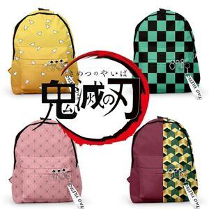 Anime Demon Slayer Kimetsu No Yaiba Backpack School Bag Casual Travel Bag Gift