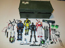Sigma 6 G.I.Joe Figures With Accessories and Foot Locker