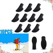 10PCS Rubber Paw Feet Tips Hammers Hiking Stick Walking Trekking Pole Caps Black