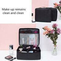 Large Makeup Bag Cosmetic Case Storage Handle Travel Organizer Bags Artist Kit E