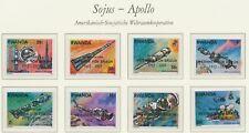 RWANDA 1975 APOLLO SOYUZ superb U/M set overprinted WERNHER VON BRAUN 1912-1977