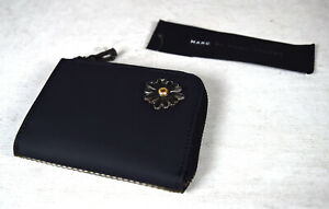 Marc By Marc Jacobs Womans Daisy Coin Zipper Wallet Purse Black New