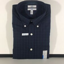 Croft & Barrow Classic Fit Dress Shirt 15.5 32/33 Navy Red
