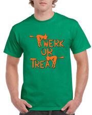 Halloween Twerk Mens T-Shirt Pumpkin Scary Costume Spooky Skeleton Bone Boo