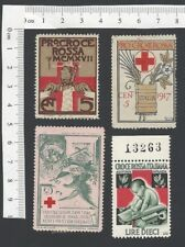 Italy WW1 Red Cross poster stamps (12)