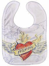 """Baby BIB """"Mummy Heart Tattoo"""" All Over Print Love Mum Mother's Day Birthday Gift"""