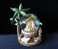 BETHLEHEM NATIVITY MUSICAL SNOW GLOBE We Wish You a Merry Christmas ROMAN INC