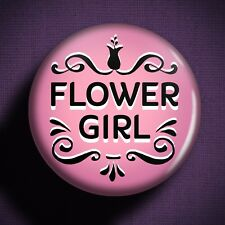 FLOWER GIRL Pin Badge Button - Wedding Outfit Girls Dress Children Gift Planning