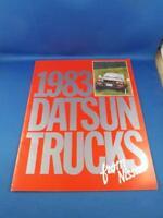 1983 DATSUN TRUCKS FROM NISSAN CAR DEALERSHIP SALES BROCHURE ADVERTISING