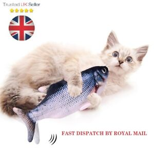 Electric Wagging Moving Cat Fish USB Interactive Pet Toy Plush  Fish UK  Seller