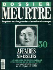DOSSIER MEURTRE No 50 à 60 LORD LUCAN, LINDBERG, DONALD HUME, GASTON DOMINICI