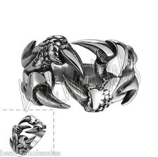 1Pc Fashion Women/Men Vintage Punk Gothic Stainless Steel Silver Ring Jewelry