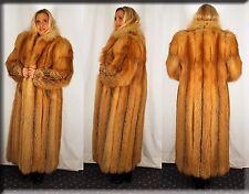 Golden Red Fox Fur Coat Size Medium 6 8 M Efurs4less