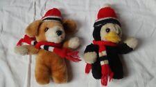 Stofftier / Plüschtier - Weihnachts Hund & Pinguin