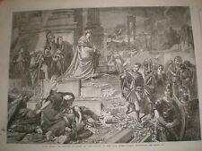 Nero after the Burning of Rome from Carl Piloty 1862 old print