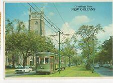 St Charles Streetcar New Orleans USA 1987 Postcard 092a