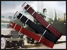 NATO G10 Buffalo Leather UTC RAF Military Bund watchband strap Bonded IW SUISSE