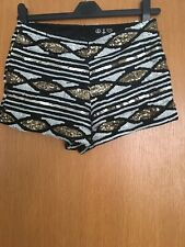 Gold Sequin Shorts Size 8