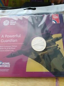 2018 Vulcan Bomber £2 coin BU pack. Sealed/Mint