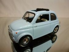 MONDO MOTORS  FIAT 500 OPEN TOP - PALE BLUE 1:24 - VERY GOOD CONDITION