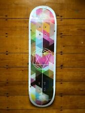 "Geometricity Graphic Bamboo Skateboard (Used) 8"" x 31.75"" Size"