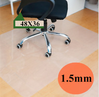 Square Plastic Hard Floor Mat Protector Office Chair Wood Floor Computer Desk