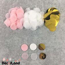 1500pc Tissue Paper Confetti Pink Gold White Balloon Throw