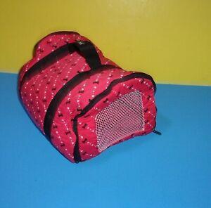 "FAO Schwarz Penelope Puppy Dog Pet Carrier Plush Red 10"" Long"