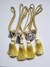 Set of 4 Large Tassel Drapery Custom Tie Backs in Gold/Yellow
