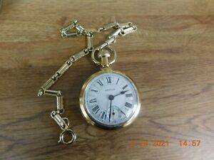 Westclox vintage wind up pocket watch with chain