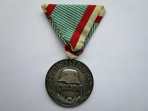 Ungarn Erinnerungsmedaille 1914-18 am Dreiecksband